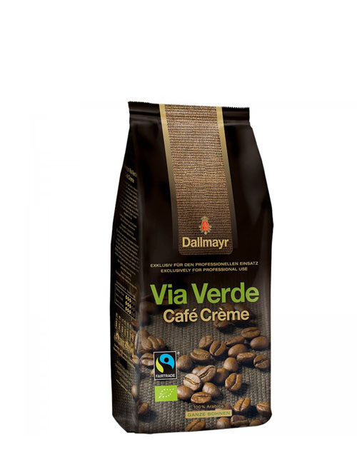 Кафе на зърна Dallmayr Via Verde - био кафе - 1 кг.