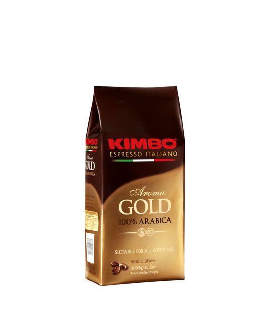 KIMBO AROMA GOLD 100% ARABICA КАФЕ НА ЗЪРНА – 1КГ.