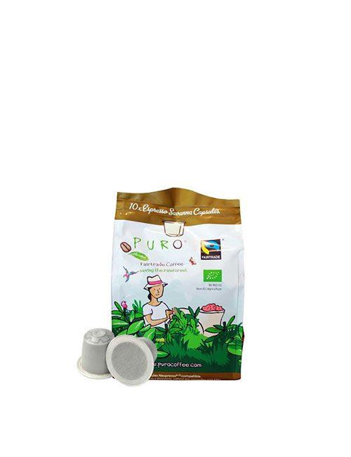 Кафе на капсули PURO BIO SAVANNA – Nespresso 10 брoя