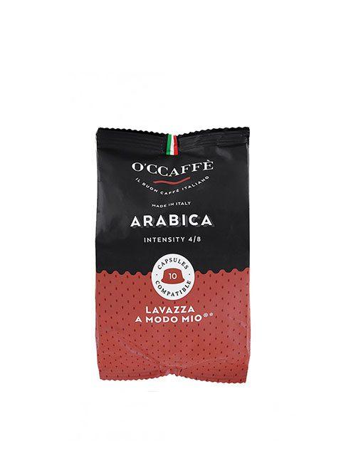 Кафе капсули O'CCAFFE Arabika – A MODO MIO – 10 броя в кутия