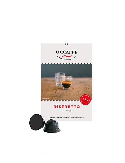 Кафе на капсули O'CCAFFE Ristretto - Dolce Gusto 16 бр.