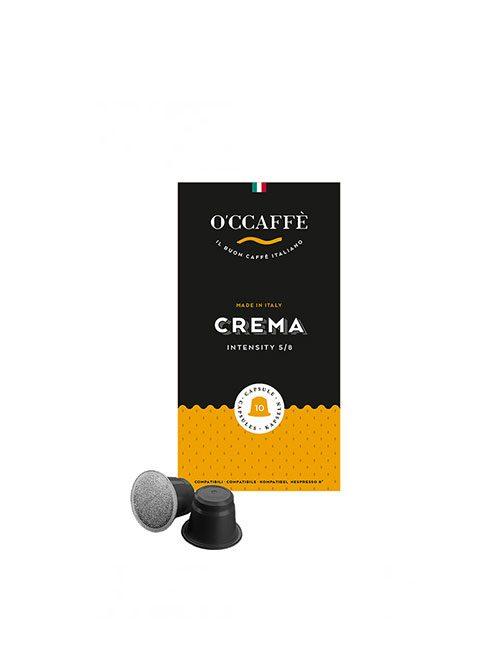 Кафе на капсули O'CCAFFE Crema – nespresso 10бр./кутия