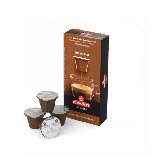 COVIM Brioso (Orocrema) Кафе капсули – PRESSO 10бр./кутия