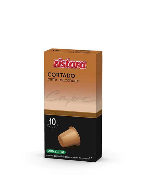 """Кафе на капсули RISTORA """"CORTADO """" – Nespresso 10 брoя"""