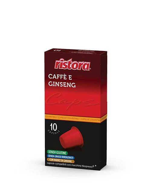 "Кафе на капсули RISTORA "" CAFFE E GINSENG "" – Nespresso 10 брoя"