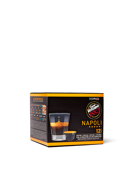 Кафе капсули Caffe Vergnano 1882 Napoli Dolce Gusto, 12 бр.
