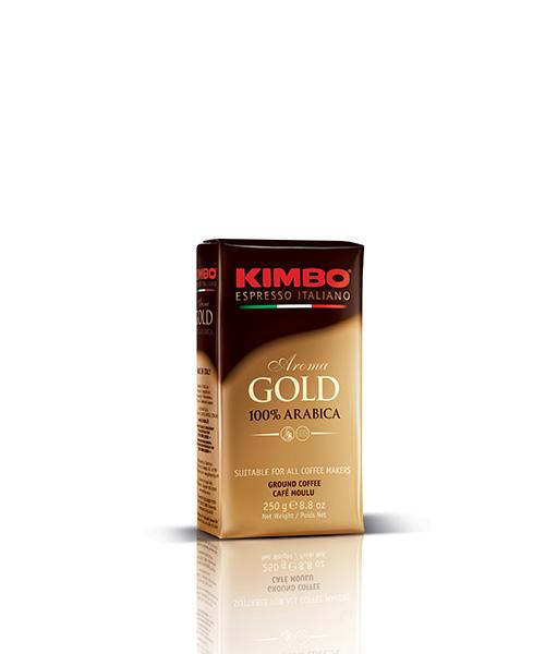 Мляно кафе Kimbo Aroma Gold – 250 г. вакум