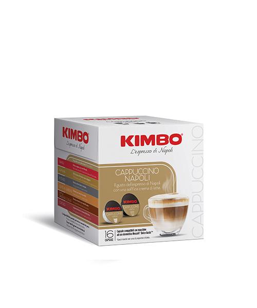 Кафе на каспули Kimbo Cappuccino Napoli Dolce Gusto - 8 напитки