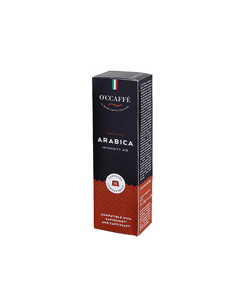 Кафе капсули OCCAFFE Arabica съвместими със система Cafissimo/Caffitaly - 10 бр.
