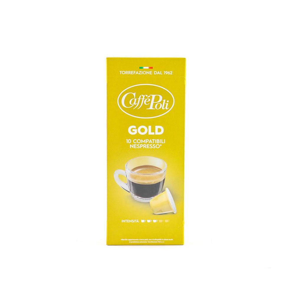 Kafe na kapsuli za Nespresso Poli GOld